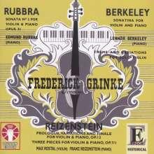 Lennox Berkeley (1903-1989): Sonatina für Violine & Klavier op.17, CD