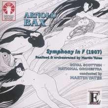Arnold Bax (1883-1953): Symphonie in F (1907) (orchestriert von Martin Yates), CD
