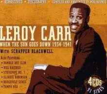 Leroy Carr: When The Sun Goes Down 1934-41, 4 CDs