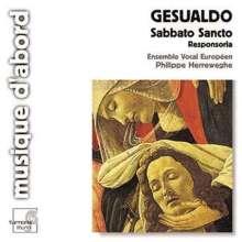 Carlo Gesualdo von Venosa (1566-1613): Responsorien zum Karsamstag, CD