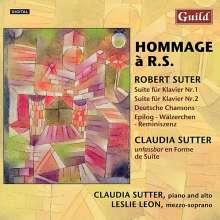 "Robert Suter (1919-2008): Klavierwerke ""Hommage a R.S."", CD"