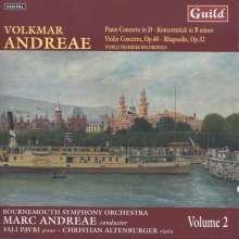 Volkmar Andreae (1879-1962): Klavierkonzert in D, CD