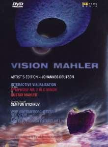 Gustav Mahler (1860-1911): Symphonie Nr.2 (Vision Mahler), 1 DVD und 2 CDs