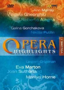 Opera Higlights Vol.1, DVD