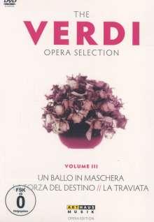 Giuseppe Verdi (1813-1901): Verdi Opera Selection Vol.3, 4 DVDs