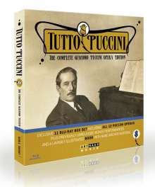 Giacomo Puccini (1858-1924): Tutto Puccini - The Complete Giacomo Puccini Opera Edition, 11 Blu-ray Discs