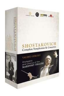 Dmitri Schostakowitsch (1906-1975): Sämtliche Symphonien und Konzerte, 4 Blu-ray Discs
