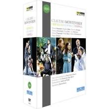 Claudio Monteverdi (1567-1643): Die 3 Opern:Orfeo; Ulisse; Poppea, 5 DVDs