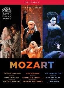 Wolfgang Amadeus Mozart (1756-1791): 3 Opern (Royal Opera House Covent Garden), 5 DVDs
