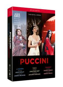 Giacomo Puccini (1858-1924): 3 Opernmitschnitte (Gesamtaufnahmen) aus dem Royal Opera House Covent Garden, 3 DVDs