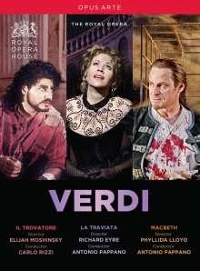 Giuseppe Verdi (1813-1901): 3 Operngesamtaufnahmen, 3 DVDs