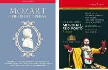 Wolfgang Amadeus Mozart (1756-1791): The Great Operas (8 Operngesamtaufnahmen), 13 DVDs