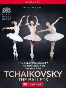 Royal Ballet Covent Garden: Tschaikowsky - The Classic Ballets, 3 DVDs