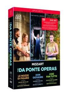 """Wolfgang Amadeus Mozart (1756-1791): Die """"Da Ponte-Opern"""" (Mitschnitte aus dem Royal Opera House Covent Garden), 5 DVDs"""
