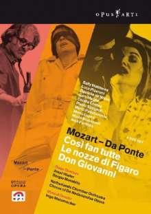 """Wolfgang Amadeus Mozart (1756-1791): Die """"Da Ponte-Opern"""", 3 DVDs"""