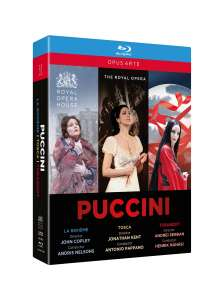 Giacomo Puccini (1858-1924): 3 Opernmitschnitte (Gesamtaufnahmen) aus dem Royal Opera House Covent Garden, Blu-ray Disc