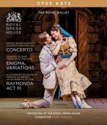 The Royal Ballet - Concerto / Enigma Variations / Raymonda (3.Akt), Blu-ray Disc