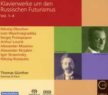 Klavierwerke um den Russischen Futurismus, 4 Super Audio CDs