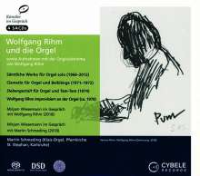 """Wolfgang Rihm (geb. 1952): Orgelwerke """"Wolfgang Rihm und die Orgel"""", 4 Super Audio CDs"""