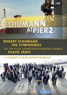 Robert Schumann (1810-1856): Filmmusik: Robert Schumann at Pier2 (Symphonien Nr.1-4 & Konzertfilm), 3 DVDs