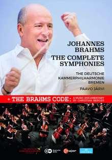 Johannes Brahms (1833-1897): Symphonien Nr.1-4, 3 DVDs