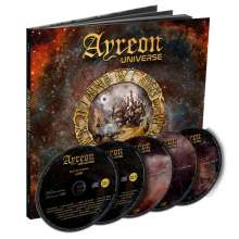 Ayreon: Ayreon Universe - Best Of Ayreon Live (Earbook) (Limited Gold Foil Edition), 2 CDs, 2 DVDs und 1 Blu-ray Disc