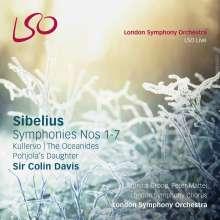 Jean Sibelius (1865-1957): Symphonien Nr.1-7, 5 Super Audio CDs und 1 Blu-ray Audio