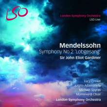 "Felix Mendelssohn Bartholdy (1809-1847): Symphonie Nr.2 ""Lobgesang"", 1 Super Audio CD und 1 Blu-ray Audio"