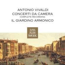 Antonio Vivaldi (1678-1741): Sämtliche Kammerkonzerte, 4 CDs