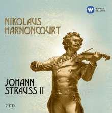 Johann Strauss II (1825-1899): Nikolaus Harnoncourt dirigiert Johann Strauss II, 7 CDs