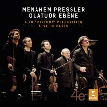 Menahem Pressler & Quatuor Ebene - A 90th Birthday Celebration live in Paris, 1 CD und 1 DVD