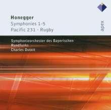 Arthur Honegger (1892-1955): Symphonien Nr.1-5, 2 CDs