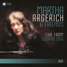 Martha Argerich & Friends - Live from Lugano Festival 2015, 3 CDs
