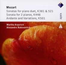 Wolfgang Amadeus Mozart (1756-1791): Klavierwerke zu vier Händen, CD