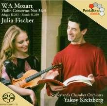 Wolfgang Amadeus Mozart (1756-1791): Violinkonzerte Nr.3 & 4, Super Audio CD
