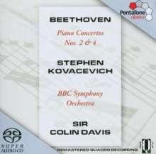 Ludwig van Beethoven (1770-1827): Klavierkonzerte Nr.2 & 4, Super Audio CD