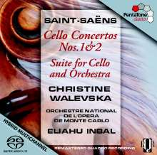 Camille Saint-Saens (1835-1921): Cellokonzerte Nr.1 & 2, Super Audio CD