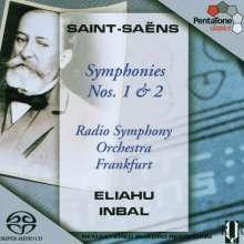 Camille Saint-Saens (1835-1921): Symphonien Nr.1 & 2, Super Audio CD