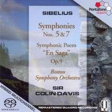 Jean Sibelius (1865-1957): Symphonien Nr.5 & 7, Super Audio CD