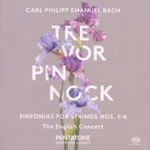 """Carl Philipp Emanuel Bach (1714-1788): Symphonien Wq.182 Nr.1-6 """"Hamburger"""", Super Audio CD"""