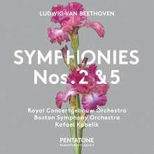 Ludwig van Beethoven (1770-1827): Symphonien Nr.2 & 5, SACD