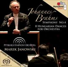 Johannes Brahms (1833-1897): Symphonie Nr.4, Super Audio CD
