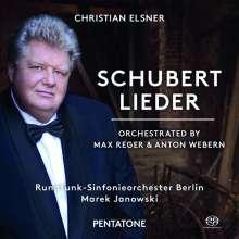Franz Schubert (1797-1828): Lieder in Orchesterfassungen (orchestriert von Max Reger & Anton Webern), Super Audio CD