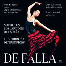 Manuel de Falla (1876-1946): Nächte in spanischen Gärten für Klavier & Orchester, Super Audio CD