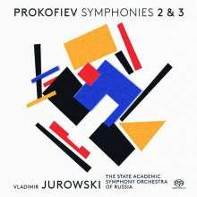 Serge Prokofieff (1891-1953): Symphonien Nr.2 & 3, Super Audio CD