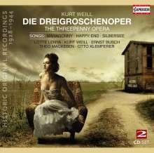 Kurt Weill (1900-1950): Die Dreigroschenoper (Historische Originalaufnahmen 1928-31), 2 CDs