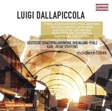 "Luigi Dallapiccola (1904-1975): Orchesterwerke ""Modern Times"", CD"