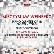 Mieczyslaw Weinberg (1919-1996): Klavierquintett op.18 (in der Orchesterversion von Mathias Baier), CD