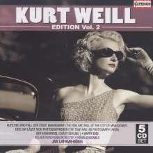 Kurt Weill (1900-1950): Kurt Weill Edition Vol.2, 5 CDs