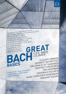 Johann Sebastian Bach (1685-1750): Great Bach Basics (12 DVD-Edition), 12 DVDs